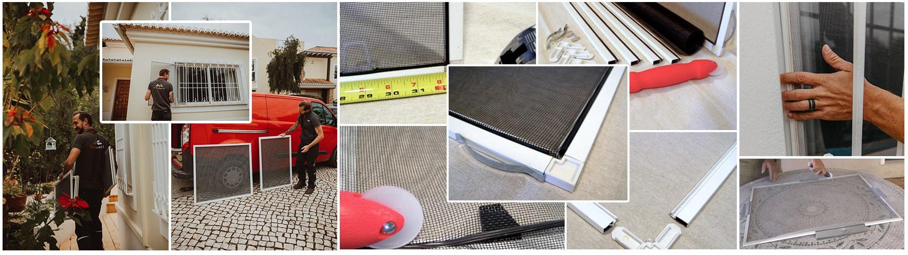 Flat sliding screens maintenance re-mesh / repair service.